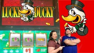 FULL SESSION WITH RED SCREENS ON LUCKY DUCKY BIG PAYDAY! STARTED WITH $100 AND ENDED WITH...