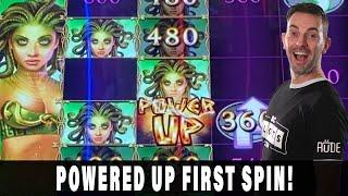 POWERED UP!  First Spin Bonus on MEDUSA UNLEASHED  Inside the First Reopened Casino
