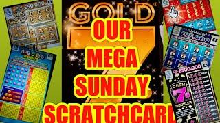 """BLOCKBUSTER OF A SCRATCHCARD GAME """"GOLD 7s""""FULL 500""""SPIN 100"""