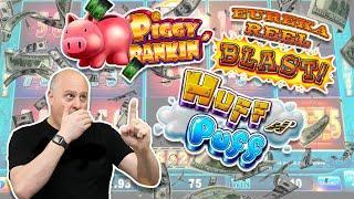 High Limit $100 Lock it Link Spins  Big Jackpots on Huff N Puff, Eureka Blast & Piggy Bankin!