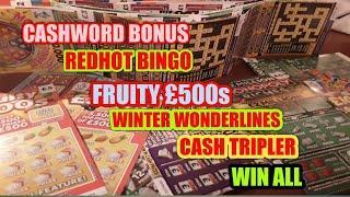 SCRATCHCARDS....FRUITY £500s..WONDERLINES..BINGO..CASHWORD..WIN ALL..CASH TRIPLER..