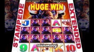 • HUGE WIN •  | BUFFALO STAMPEDE SLOT | STAMPEDE EXTENDED ENCORE! - Slot Machine Bonus
