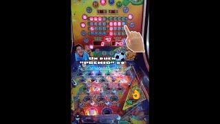 """El premio más grande que he """"GANADO""""  Jugando x9  en la Pinballs 5 Pelotas . Buenos juegos"""