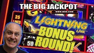 LIGHTNING LINK HIGH STAKES BONUS ROUND WIN!! | The Big Jackpot