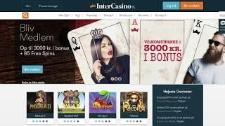 InterCasino anmeldelse: Bonuskode = 1.000 kr. + 85 free spins