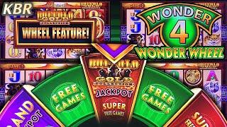 • WONDER 4 WONDER WHEEL • SLOT MACHINE PROGRESSIVE WIN | BUFFALO GOLD SUPER FREE GAMES BONUS