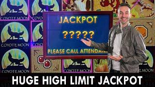 HUGE HIGH LIMIT JACKPOT  Coyote Moon ️'s Me!  BCSlots