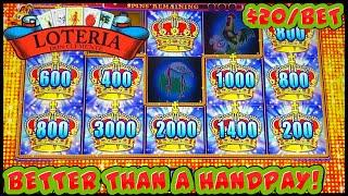 Lock It Link Loteria Dragon Link Golden Century HIGH LIMIT $50 MAX BET Bonus Rounds Slot Machine