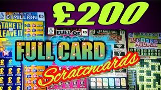 "£200..of SCRATCHCARDS ""TAKE IT OR LEAVE IT""WIN ALL""GOLD 7s"