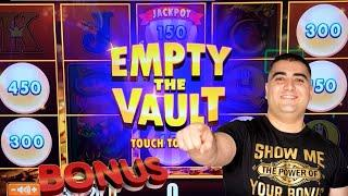 The Vault Slot Machine Bonus & Diamond Rush Feature! $1,000 Challenge To Beat The Casino ! EP-13