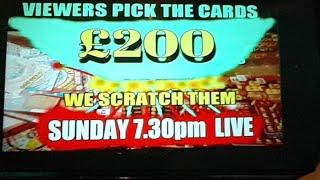 """VIEWERS PICK SCRATCHCARDS """"LIVE"""" WE SCRATCH THEM SUNDAY"""
