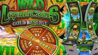 WILD LEPRE'COINS GOLD RESERVE Lets win all the Leprechauns GOLD