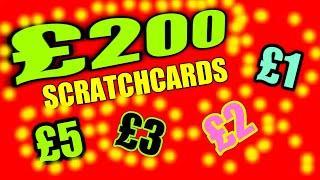 MEGA SCRATCHCARD GAME..FRUITY 500..SUPER 7s.SPINE £100.Etc