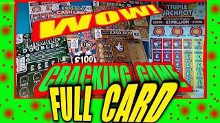 """CRACKING SCRATCHCARD GAME..""""TRIPLE JACKPOT""""..EMERALD DOUBLER"""".WONDERLINES""""..BINGO"""".CASHLINES"""".WIN£50"""