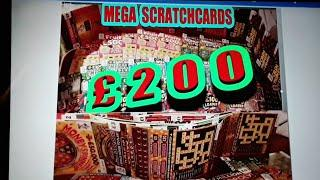 SCRATCHCARDS  £200.00..PRIZES..MONOPOLY..EMERALD DOUBLER..WINTER WOUNDERLINES..£100 LOADED..WIN £50
