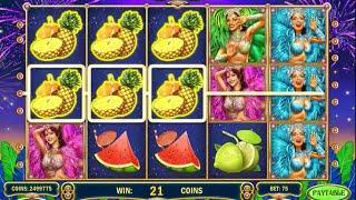 Samba Carnival slot by Play'n GO - Gameplay