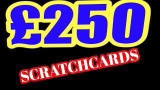 "£250..SCRATCHCARDS TRIPLE JACKPOT""RAFFLE""WIN ALL""CASH VAULT"