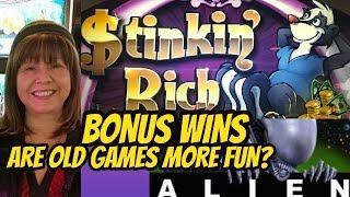 ARE OLD GAME BONUSES MORE FUN? $TINKIN RICH' & ALIEN