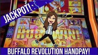 BIG JACKPOT ON BUFFALO REVOLUTION Slot Machine! Max Bet Played at Winstar Casino - HANDPAY!