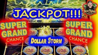 DOLLAR STORM DOUBLE SUPER GRAND CHANCE! FULL SCREEN MULTIPLE JACKPOT HANDPAY SESSION 4k HD