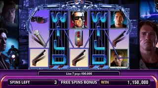 THE TERMINATOR Video Slot Casino Game with a TERMINATOR FREE SPIN BONUS