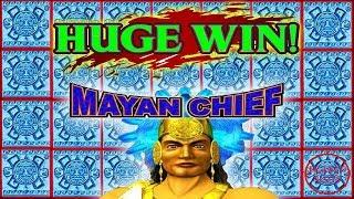 WIFE LANDS A HUGE WIN! AMAZING 80 SPINS | MAYAN CHIEF SLOT MACHINE
