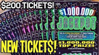 ALRIGHT! **$200 NEW TICKET$**  5X $20 $1,000,000 Jackpot + 10X $500,000 Jackpot  TEXAS LOTTERY