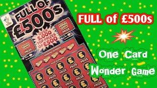 Its..the..Full of £500s turn tonight....in our..One Card Wonder Game
