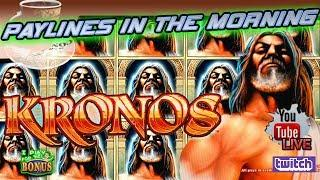 • PAYLINES IN THE MORNING • KRONOS • THE SLOT MUSEUM