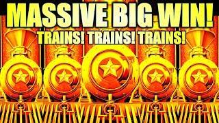 MASSIVE BIG WIN!  NEW CASH EXPRESS LUXURY LINE Slot Machine (Aristocrat Gaming)
