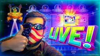 LIVE UNICOW CATCH!!! 450+ SPINS!!! Invaders Attack From The Planet Moolah!!! CASINO IS OPEN