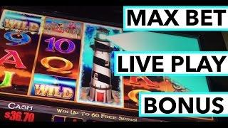 LIVE PLAY and BONUS on Harbor Lights Slot Machine