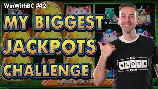 MY BIGGEST JACKPOTS CHALLENGE  $25 Huff N Puff Spins