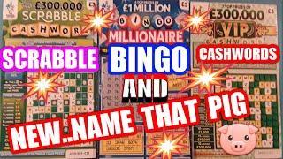 Millionaire  BingoSCRABBLE..Cash Match.(NEW NAME THAT PIG.Prize Draw) mmmmmmMMM