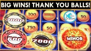 BIG WINS on BALLS!  LIGHTNING LINK SLOT MACHINE, DRAGON LINK, FIRELINK, CASINO ROYALE!