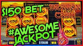 NEW HIGH LIMIT Dragon Cash Link 2 HANDPAY JACKPOTS $150 Bonus Round HAPPY & PROSPEROUS Slot Machine