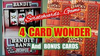 4  Card Wonder Game..mmmmmmMMM..and BONUS SCRATCHCARDS mmmmmmMMM