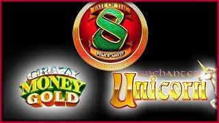 Crazy Money Gold  Enchanted Unicorn  Fate of the 8  The Slot Cats