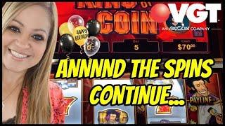 VGT SUNDAY FUN'DAY, CAN I CATCH A BREAK⁉️ KING OF COIN CHOCTAW CASINO, DURANT