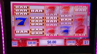 VGT $50 Per Spin Ruby's Red Spin Wild's - Double The Money Choctaw Casino High Limit Gambling