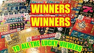 """Winners.£200.SCRATCHCARDS.NEW ADVENT.NEW RUBY.NEW SCRABBLE.FROSTIE BINGO.NEW £500 LOADED""""GIVE AWAY"""