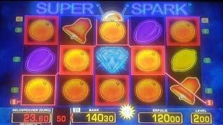 Höchsteinsatz/HighwinSuper Spark auf 2 Euro Fach ,Natürlich ist 140 Euro auch daMerkur/Novoline