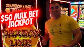 $50 Max Bet HANDPAY JACKPOT On High Limit Dragon Link Slot | Slot Machine JACKPOT | SE-11 | EP-12
