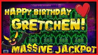 HIGH LIMIT Lock It Link Cats, Hats & More Bats MASSIVE JACKPOT HANDPAY ️HAPPY BIRTHDAY GRETCHEN ️