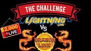 High Limit Dragon Link MASSIVE HANDPAY JACKPOT !! Lightning Link VS Dragon Link