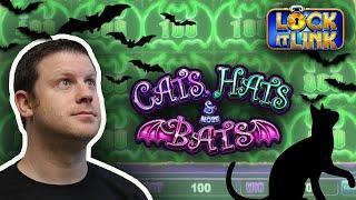 Cats Hats & Bats Lock it Link - Jackpot Bat Splat Bonus Round Handpay Brian of Denver Slots