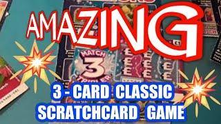 Wow!  3 Card Wonder Game        SCRATCHCARDS classic game .......WhooooOOOOOOO