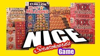 Money Kingdom.Merry  Millions.10X Cash.Pot of Gold..Scratchcards
