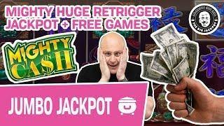 MIGHTY HUGE Retrigger JACKPOT  + Free Games! Mighty Cash Slots