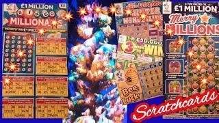 Scratchcards...BINGO Millionaire..3 Ways to Win..Gold Tripler.Bee Lucky..Merry Millions
